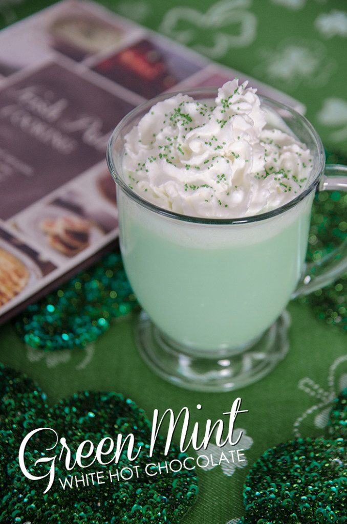 Green Mint White Hot Chocolate