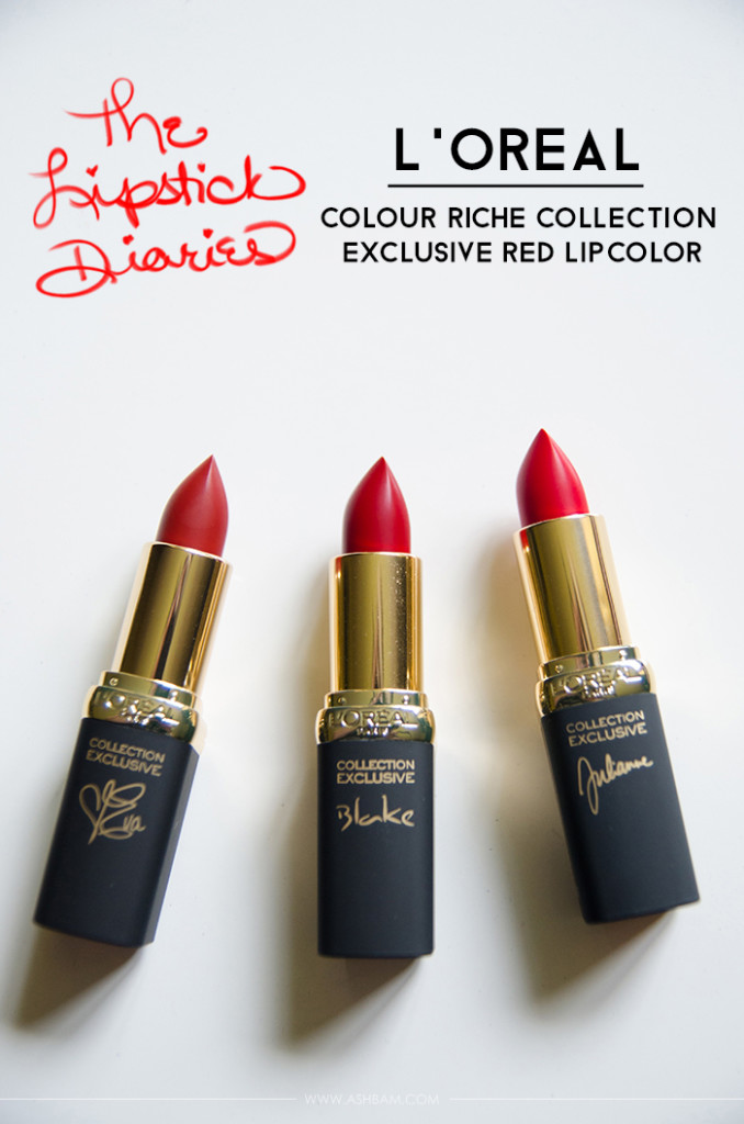 The Lipstick Diaries: L'Oreal Colour Riche Collection Exclusive Red Lipcolor