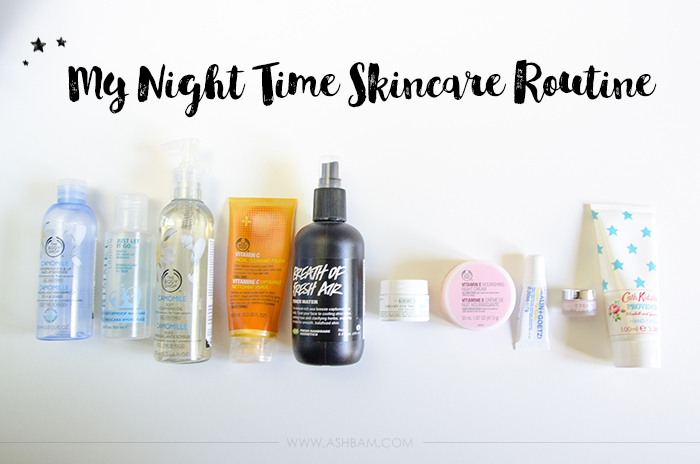 My Current Night Time Skincare Routine