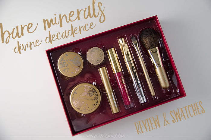 Bare Minerals Divine Decadence Holiday Collection – Review & Swatches