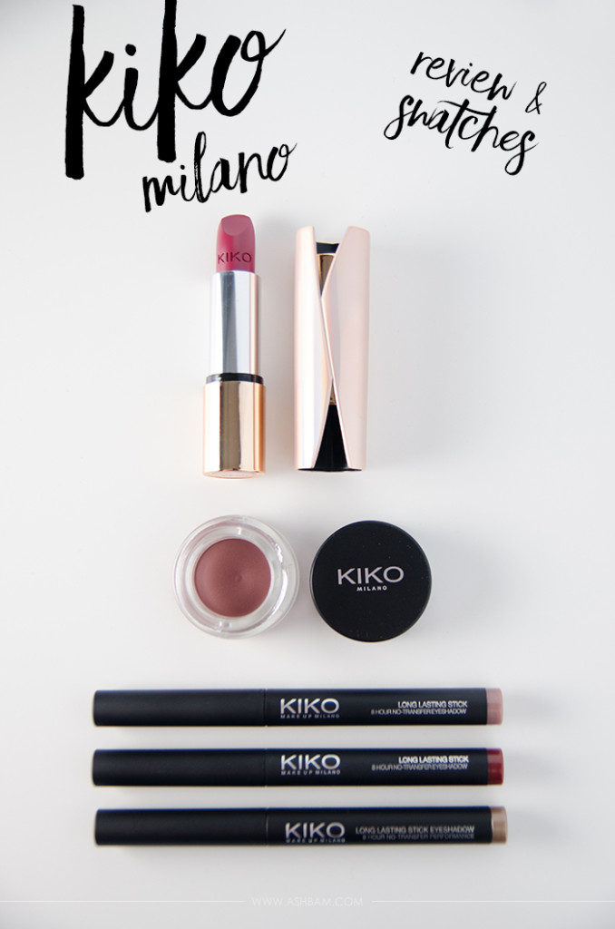 Kiko Milano Cosmetics – Review & Swatches
