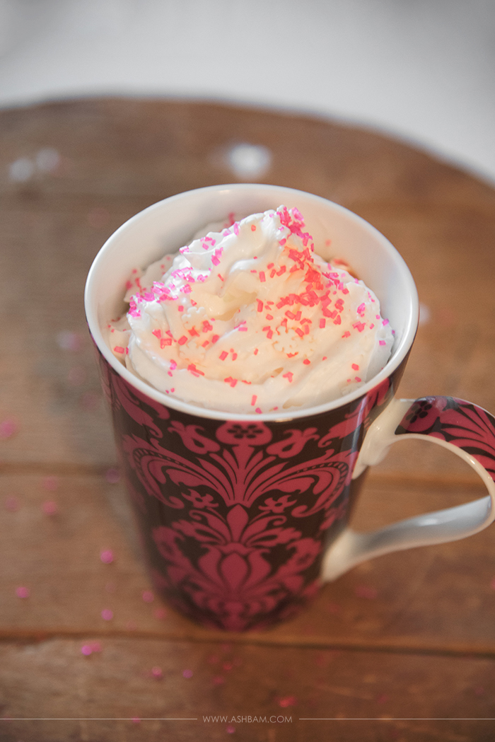 Raspberry Nutella Hot Chocolate