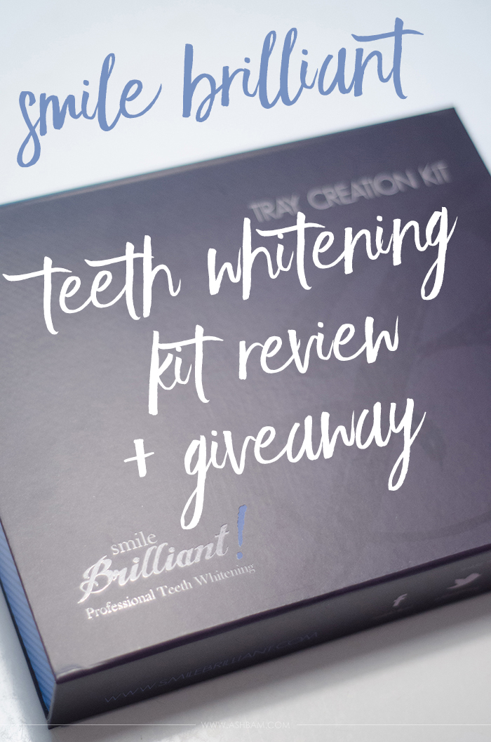 Smile Brilliant Teeth Whitening Kit – Review & Giveaway