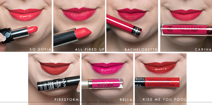 Favorite Red & Pink Lipsticks