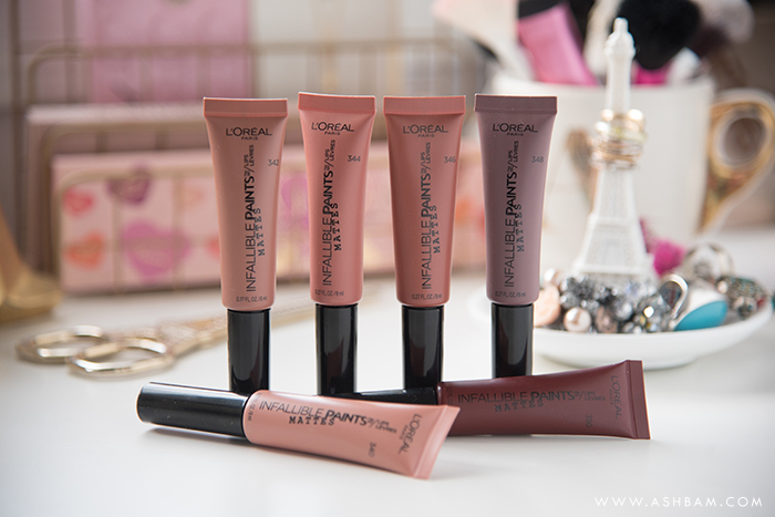 L'Oreal Infallible Matte Lip Paints – Swatches & Review